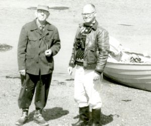 Alfred Gross and Chuck Huntington on Kent Island in 1965.